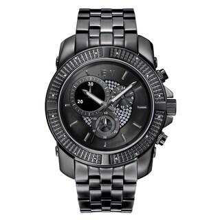 JBW Men's Black Ion-plated Stainless Steel Warren J6331C Multifunction Watch