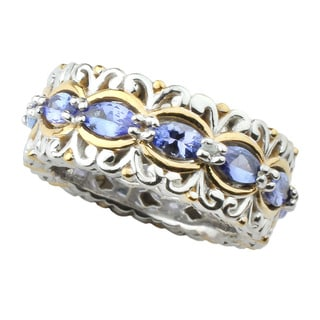 One-of-a-kind Michael Valitutti Tanzanite Eternity Ring (Size 8)