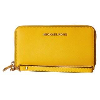 Michael Kors Jet Set Sunflower Travel Large Phone Wristlet