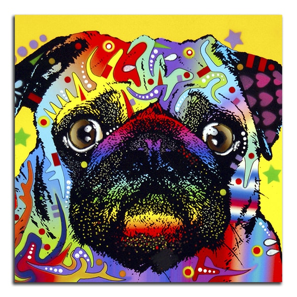 Colorful Pug Metal Printed on Metal Wall Decor