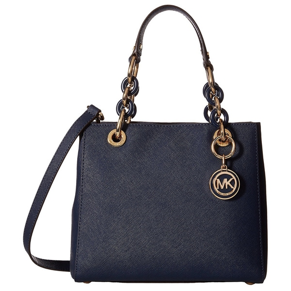 Michael Kors Cynthia Navy Small North South Satchel Handbag