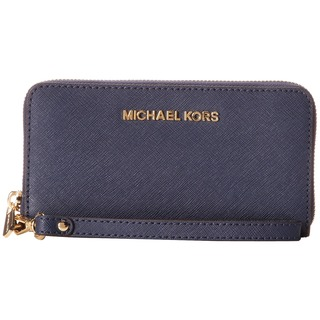 Michael Kors Jet Set Navy Travel Large Phone Wristlet