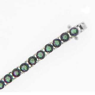 Meredith Leigh Sterling Silver Mystic Quartz Tennis Bracelet