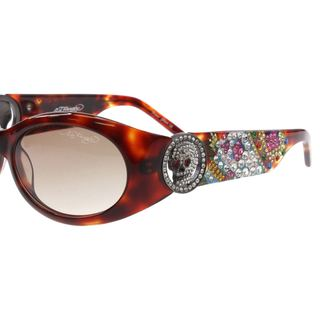 Ed Hardy Ehs-032 King Tortoise/ Brown Sunglasses