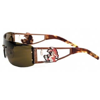 Ed Hardy Ehs-026 Rabbit Cocoa/ Brown Sunglasses
