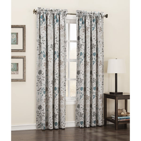 Sun zero andy rod pocket room darkening patio door curtain panel
