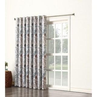 Sun Zero Andy Rod Pocket Room Darkening Patio Door Curtain Panel