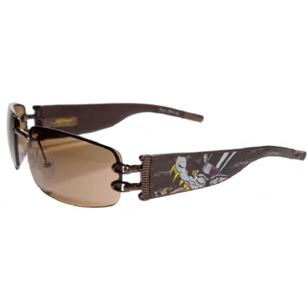 Ed Hardy Ehs-016 Love Boy Latte/ Brown Sunglasses