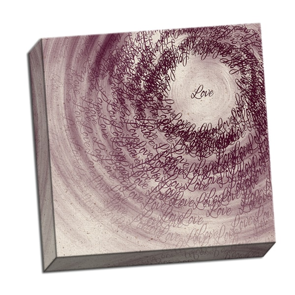 Love Word Whirlwind 16 x 16 Digital Image Printed on Metal Wall Decor