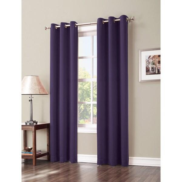 Sun Zero Hayden Grommet Blackout Window Curtain Panel 63-inches in Charcoal(As Is Item) 23339617