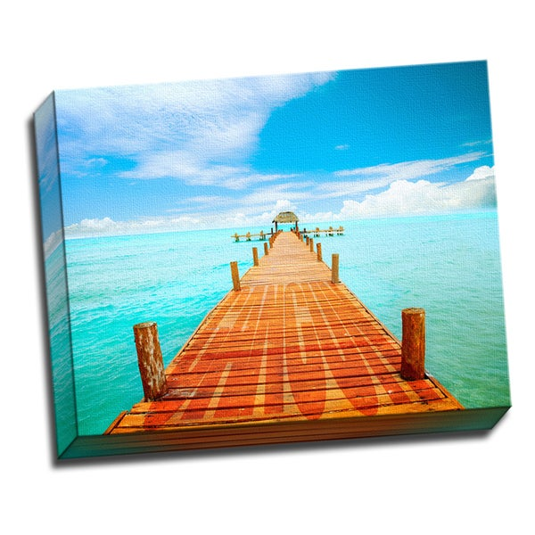 Cancun Traveler Collection Printed on Framed Ready to Hang Canvas