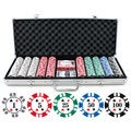 13.5g 500-piece Double Stripe Suited Clay Poker Chip Set