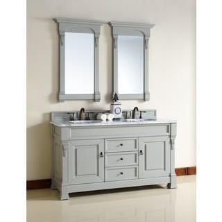60 Inch Double Sink Vanity in Grey