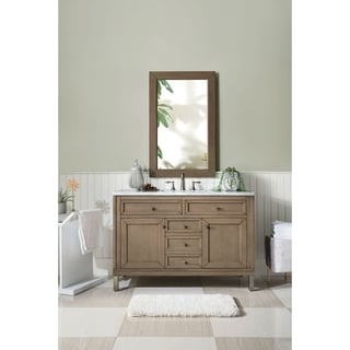 48 Inch Single Sink Vanity in White Washed Walnut