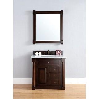 36 Inch Single Sink Vanity with Mahogany Finish