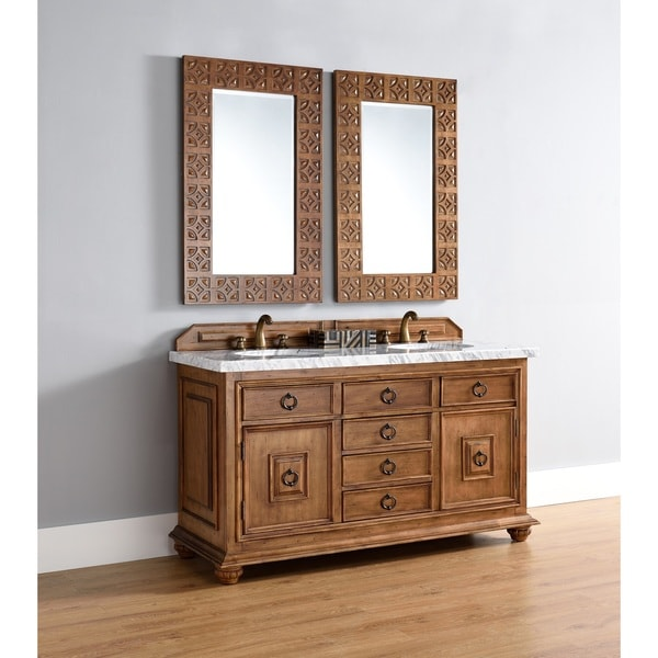 "Mykonos 60"" Double Vanity Cabinet w/ Drawers, Cinnamon"