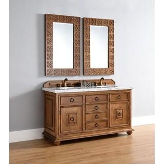 "Mykonos 60"" Double Vanity Cabinet w/ Drawers, Cinnamon"