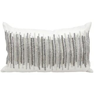 "kathy ireland by Nourison Silver Throw Pillow (12"" x 20"")"