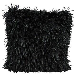 kathy ireland Medlay Soft Shag Black Throw Pillow (20-inch x 20-inch) by Nourison