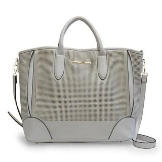 Adrienne Vittadini Perforated Vegan Leather East/West Tote Bag