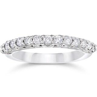 10k White Gold 5/8ct TDW Diamond Wedding Ring (I-J,I2-I3)