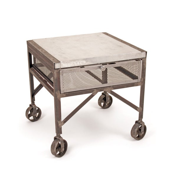 Hip Vintage Steel Tailors Accent Table