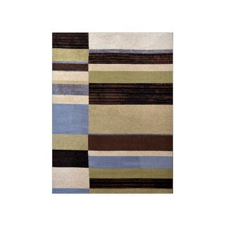 Home Dynamix Optimum Collection Blue (7'8 X 10'4) Polypropylene Machine Made Area Rug