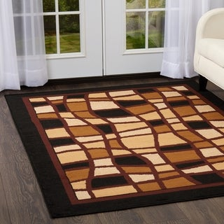 "Home Dynamix Premium Collection Ebony (7'8"" X 10'7"") Polypropylene Machine Made Area Rug"
