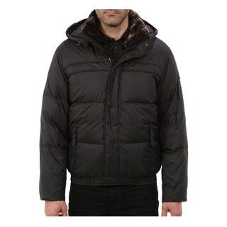 Andrew Marc Fauxmula Black Down Puffer (Size L)
