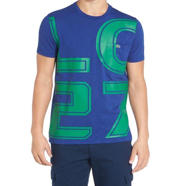Lacoste 'LC27' Blue Crewneck Graphic T-Shirt