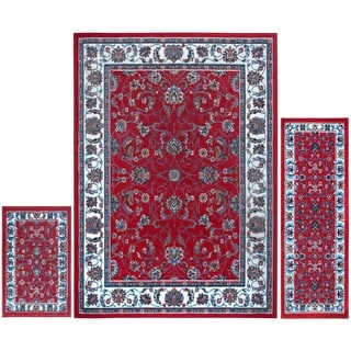 Home Dynamix Ariana Collection Traditional 3-Piece Area Rug Set Machine Made Polypropylene