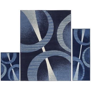 Home Dynamix Ariana Collection Contemporary 3-Piece Area Rug Set Machine Made Polypropylene