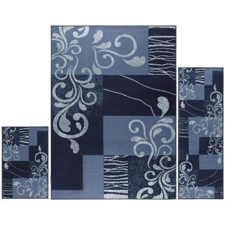 Home Dynamix Ariana Collection Transitional 3-Piece Area Rug Set Machine Made Polypropylene