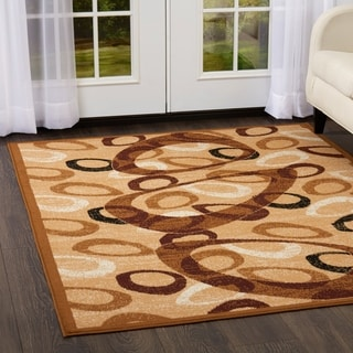 Home Dynamix Ariana Collection Sand 3-Piece Area Rug Set Machine Made Polypropylene