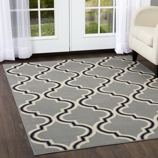 """Home Dynamix Premium Collection Transitional (5'2"""" X 7'4"""") Machine Made Polypropylene Area Rug"""