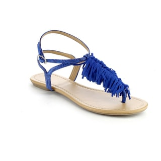 Beston Fringed Flat Thong Sandals