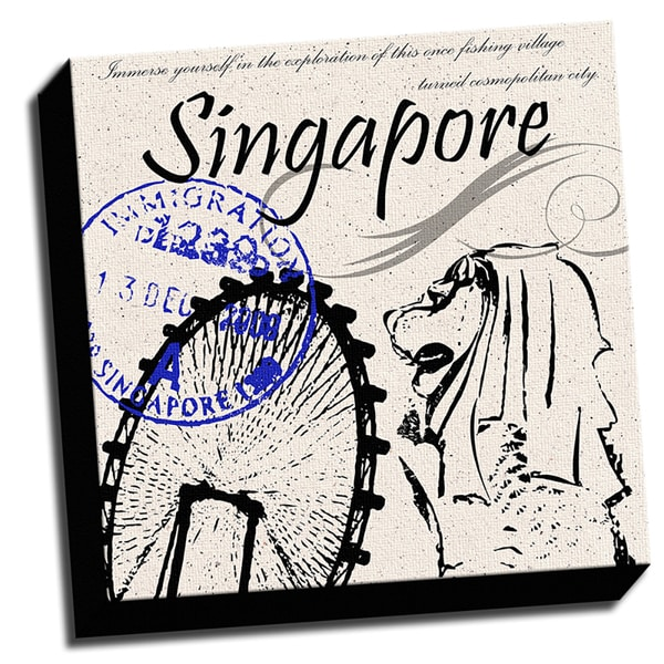 Singapore Inspired 16x16 Printed on Framed Ready to Hang Canvas