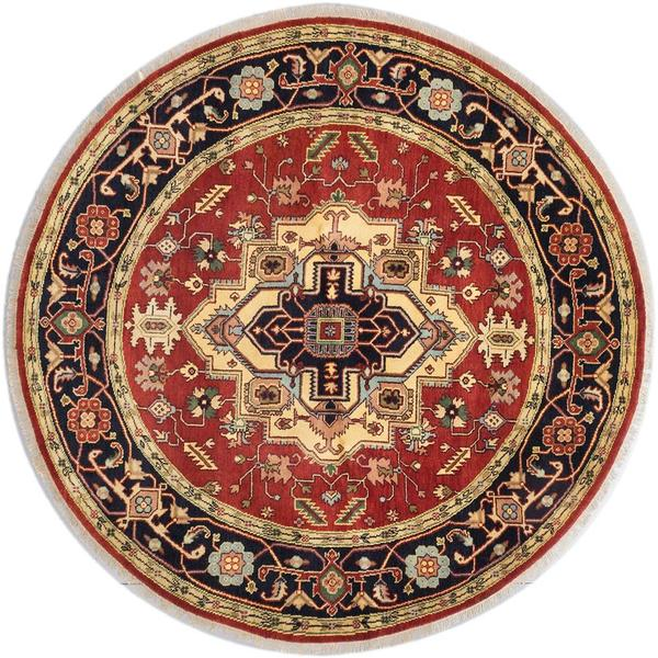 Ecarpetgallery Hand-knotted Serapi Heritage Brown Wool Rug (8' x 8') 18077356