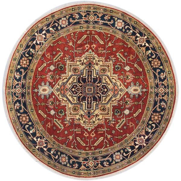 Ecarpetgallery Hand-knotted Serapi Heritage Orange Wool Rug (8' x 8') 18077370