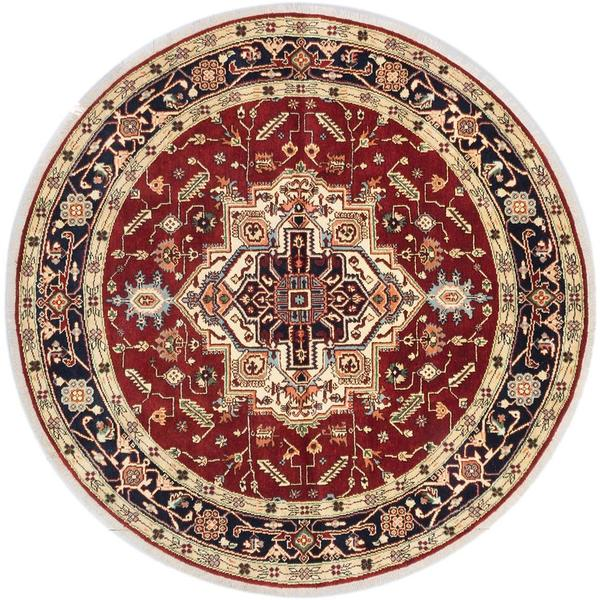 Ecarpetgallery Hand-knotted Serapi Heritage Red Wool Rug (8' x 8') 18077371