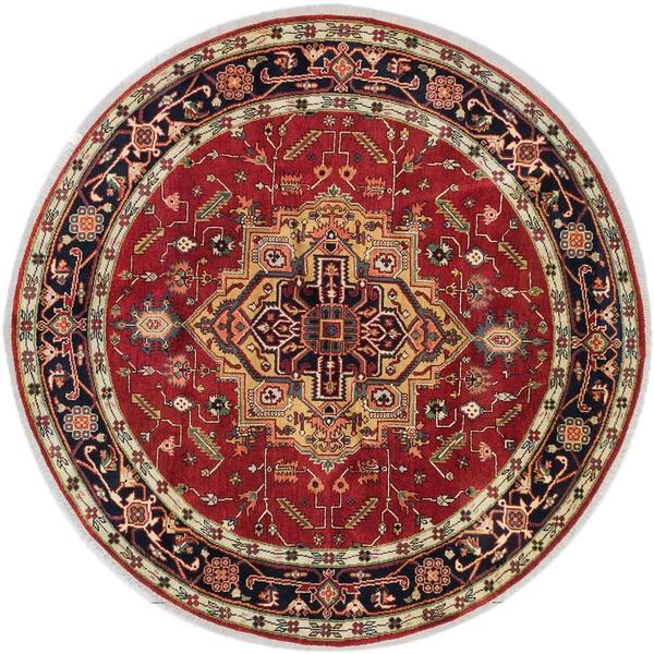 Ecarpetgallery Hand-knotted Serapi Heritage Red Wool Rug (8' x 8') 18077394