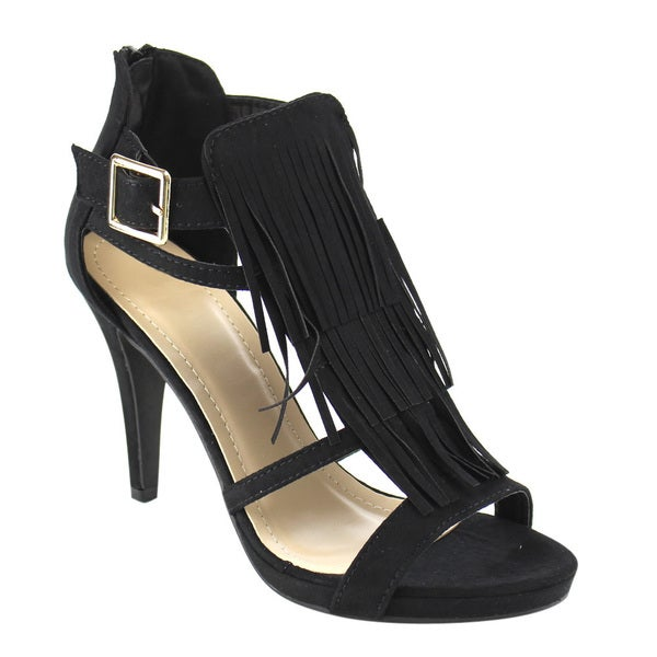 Beston Fringe Caged Sandals
