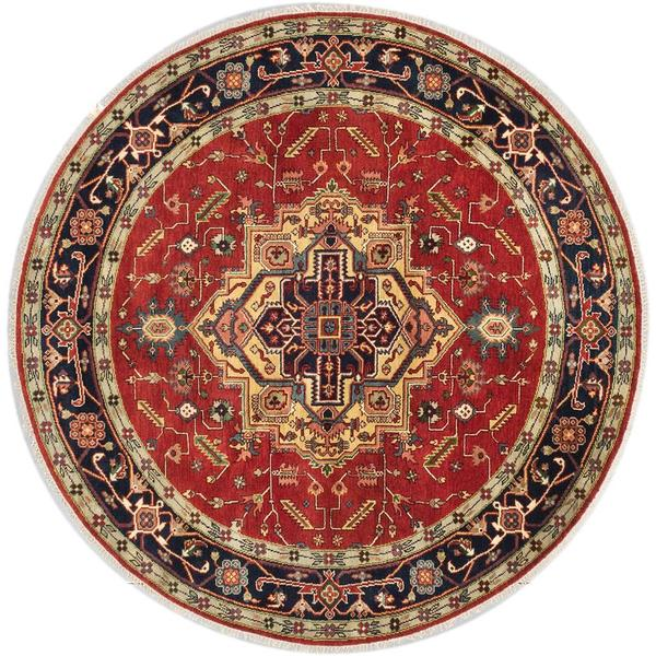 Ecarpetgallery Hand-knotted Serapi Heritage Brown Wool Rug (8' x 8') 18077441