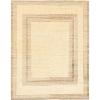 Ecarpetgallery Hand-knotted Persian Gabbeh Yellow Wool Rug (7'6 x 9'6)