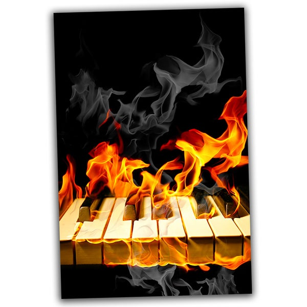 Piano on Fire 30x20 Ready to Hang Canvas