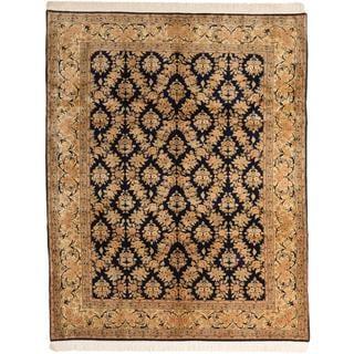 Ecarpetgallery Hand-knotted Keisari Blue Wool Rug (7'10 x 9'11)