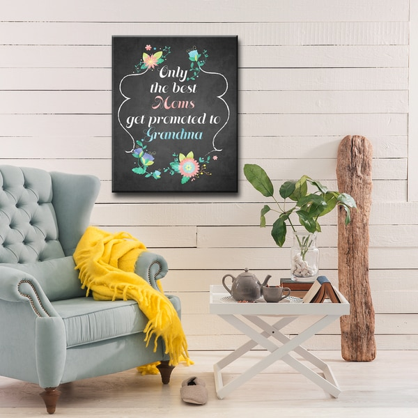 Ready2HangArt 'Only the best Moms get Promoted to Grandma' Wrapped Canvas Art