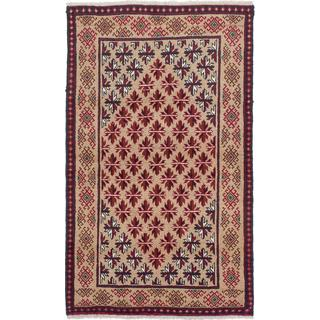Ecarpetgallery Hand-Knotted Persian Finest Baluch Beige Wool Rug (2'11 x 5')