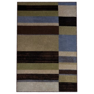 "Home Dynamix Optimum Collection Blue (21"" X 35"") Machine Made Polypropylene Accent Rug"