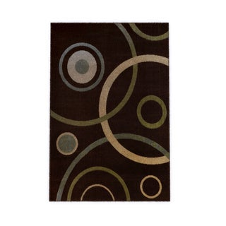"Home Dynamix Optimum Collection Brown (21"" X 35"") Machine Made Polypropylene Accent Rug"